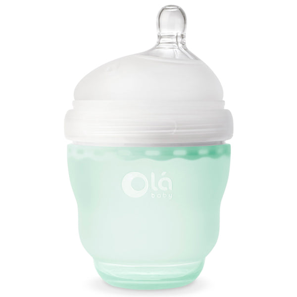 Olababy 100% Silicone GentleBottle Baby Bottle mint green 4 ounces