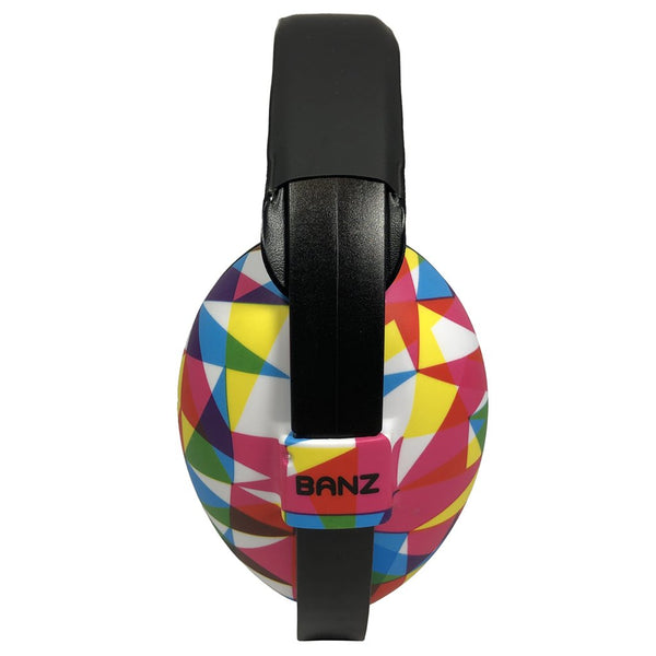 Banz Hearing Protection Earmuffs baby sized prism multicolored geometric