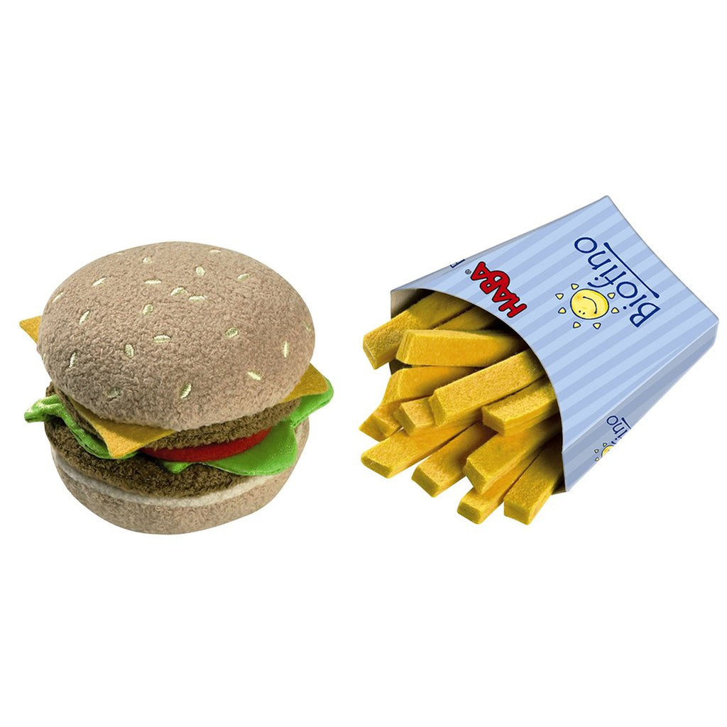 HABA Children's Pretend Play Food Biofino Hamburger & French Fries Set