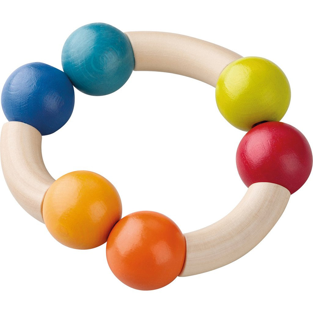 HABA Infant Baby Colorful & Wooden Magic Arch Clutching Activity Toy multicolored rainbow