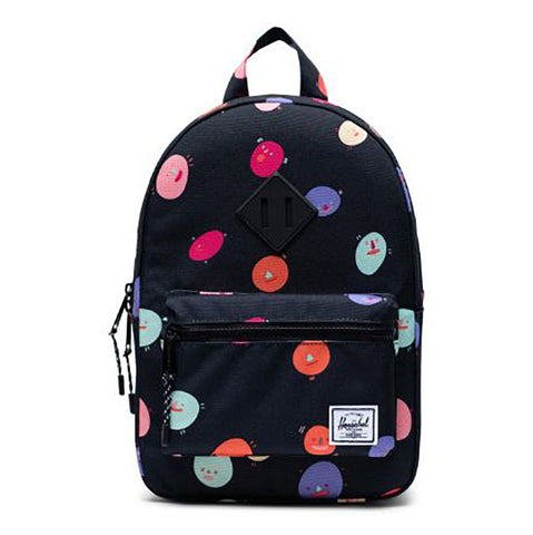 Herschel Children's Heritage Backpack Book Bag polka people black multicolored