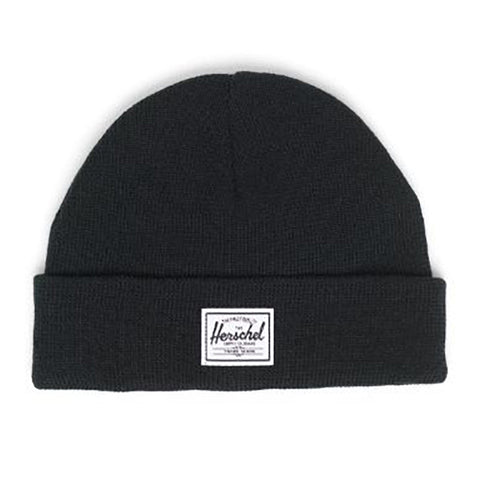 Herschel Cold Weather Flat Knit Toddler Beanie Hat black