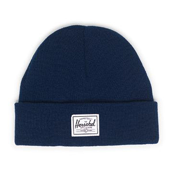 Herschel Cold Weather Flat Knit Infant Baby Beanie Hat navy dark blue