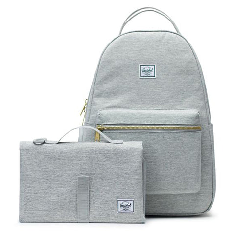 Herschel Nova Sprout Diaper Bag light grey crosshatch