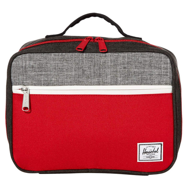 Herschel Children's Pop Quiz Lunch Box Pail black crosshatch/red/raven crosshatch