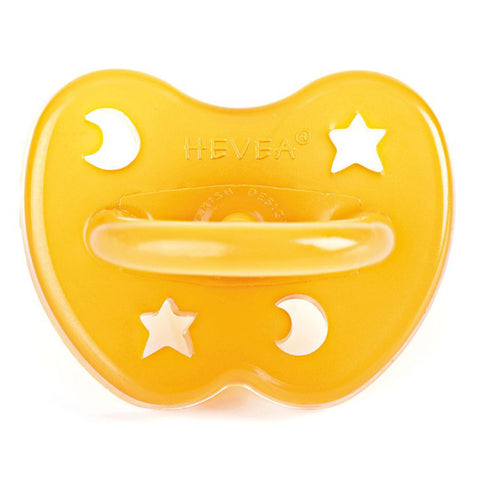 HEVEA 100% Pure and Natural Rubber Baby Pacifier natural stars & moon