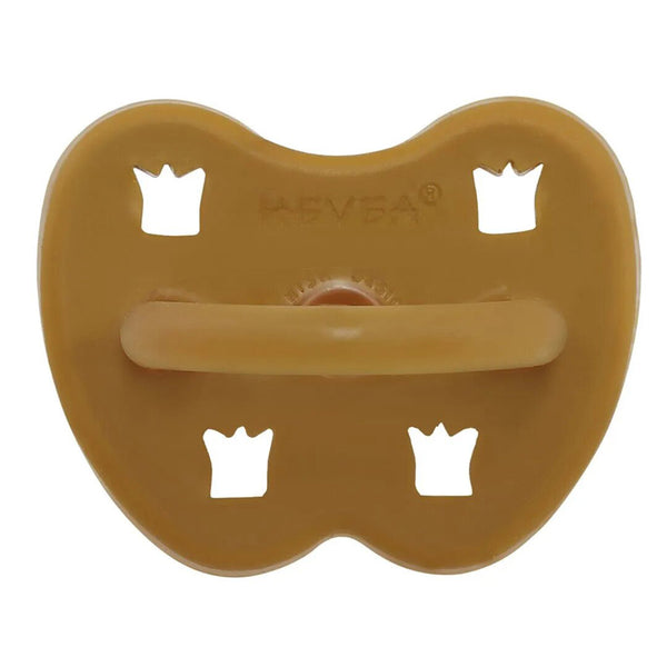 HEVEA 100% Pure and Natural Rubber Baby Pacifier tumeric yellow dark