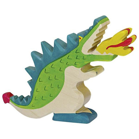 Holztiger Wooden Fairty Tale Creatures & Characters Children's Toy  dragon green blue
