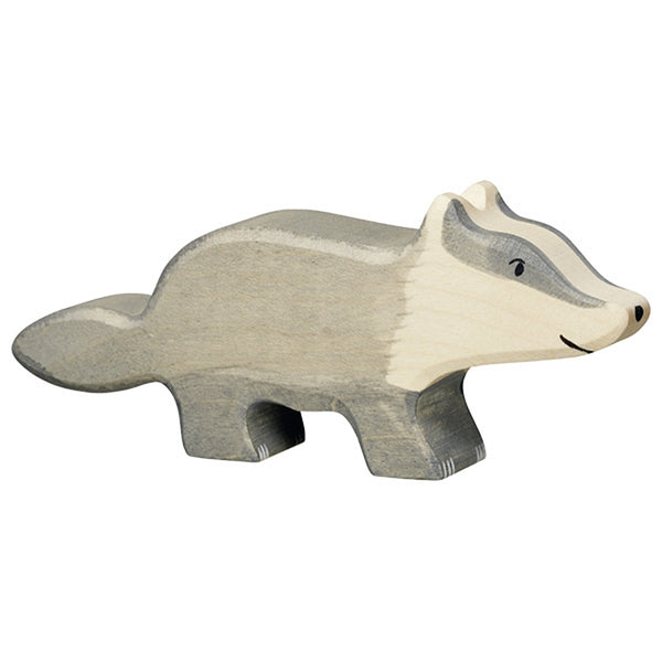 Holztiger Wooden Woodland Animals Children's Toys badger grey