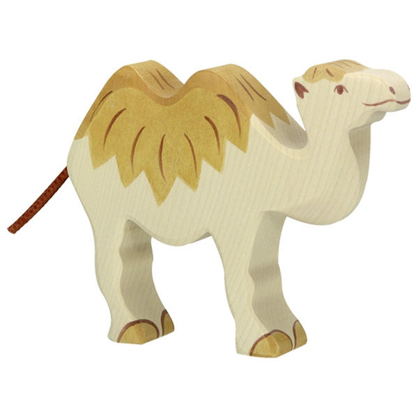 Holztiger Wooden Safari Animals Children's Toys camel sahara beige natural light dark