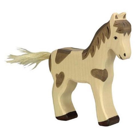 Holztiger Wooden Farm Animals Children's Toys standing skewbald foal