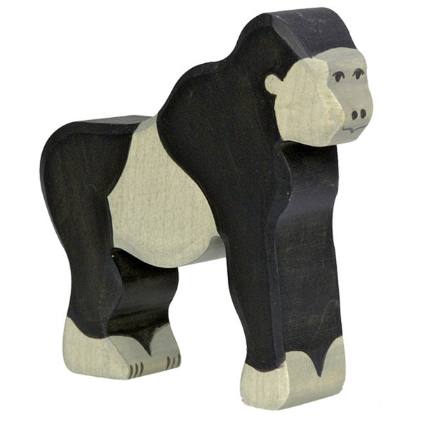 Holztiger Wooden Safari Animals Children's Toys gorilla black grey