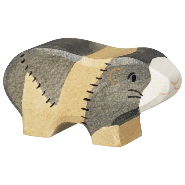 Holztiger Wooden Farm Animals Children's Toys guinea pig rodent grey white beige