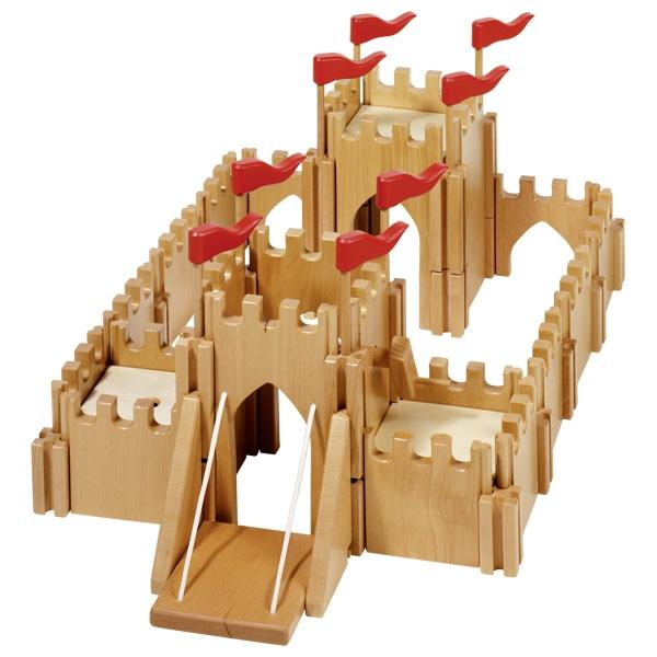 Holztiger Knight's Castle Wooden Fairy Tale Pretend Play Toy