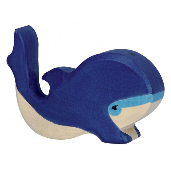 Holztiger Wooden Sea Animals Children's Toys small blue whale