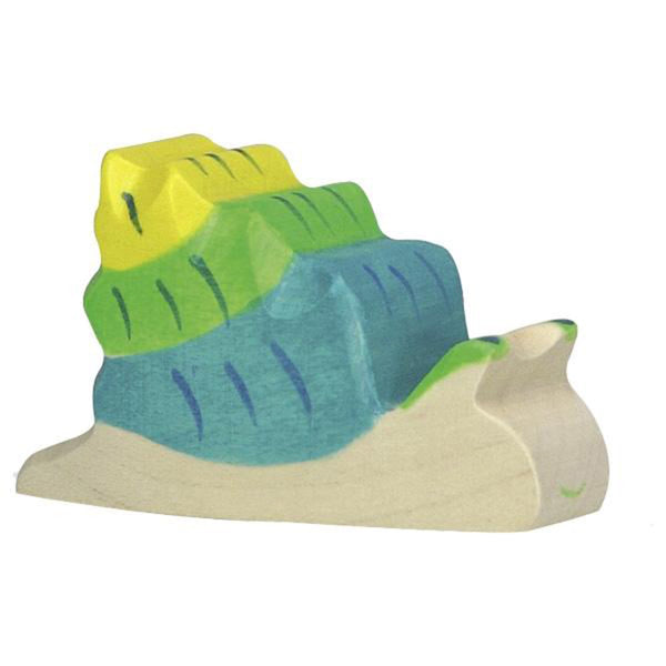 Holztiger Wooden Sea Animals Children's Toys blue green yellow snail