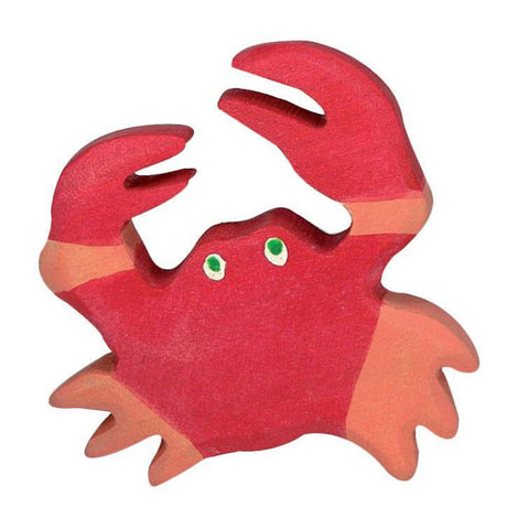 Holztiger Wooden Sea Animals Children's Toys red crab