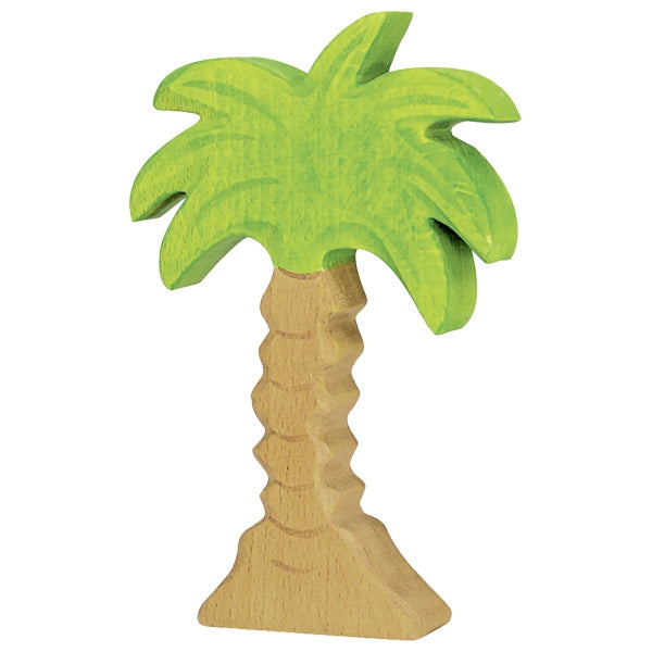 Holztiger Wooden Safari Animals Children's Toys palm tree green brown