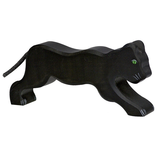 Holztiger Wooden Safari Animals Children's Toys panther black