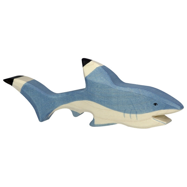 Holztiger Wooden Sea Animals Children's Toys shark blue
