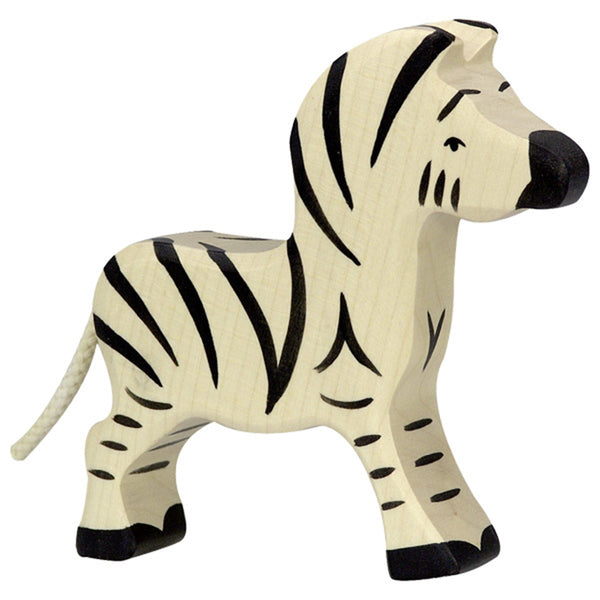 Holztiger Wooden Safari Animals Children's Toys small black and white striped zebra