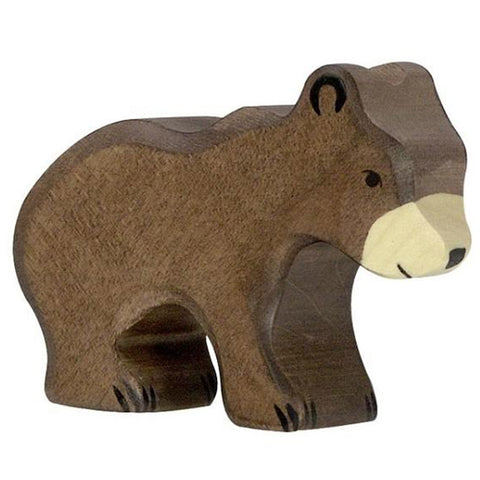 Holztiger Wooden Woodland Animals Children's Toys small bear brown