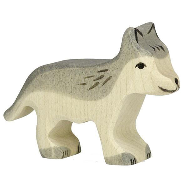 Holztiger Wooden Woodland Animals Children's Toys small standing wolf