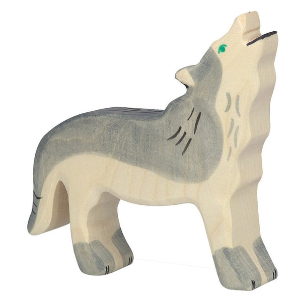 Holztiger Wooden Woodland Animals Children's Toys large howling wolf