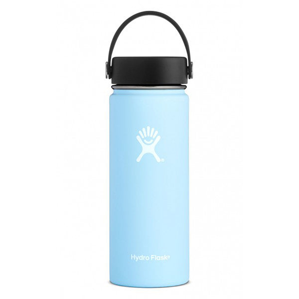 Hydro Flask Wide Mouth 18oz Stainless Steel Water Bottle with Flex Cap Lid  frost light pastel blue