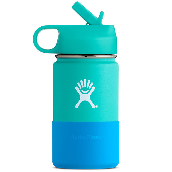 Hydro Flask Kid's Wide Mouth Stainless Steel Water Bottle & Straw Lid mint green