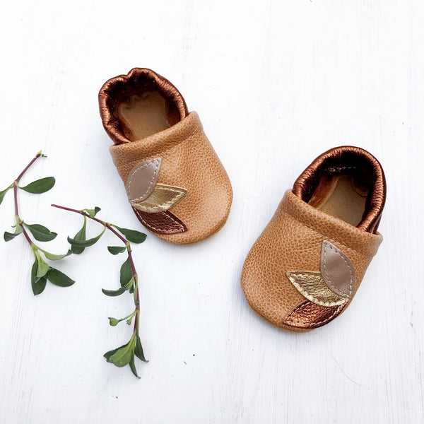 Baby Leather Shoes with Design