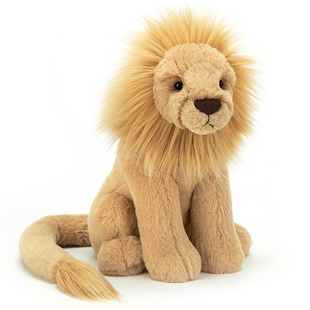 Jellycat Small Leonardo Lion Children's Stuffed Animal Toy yellow with fluffy mane
