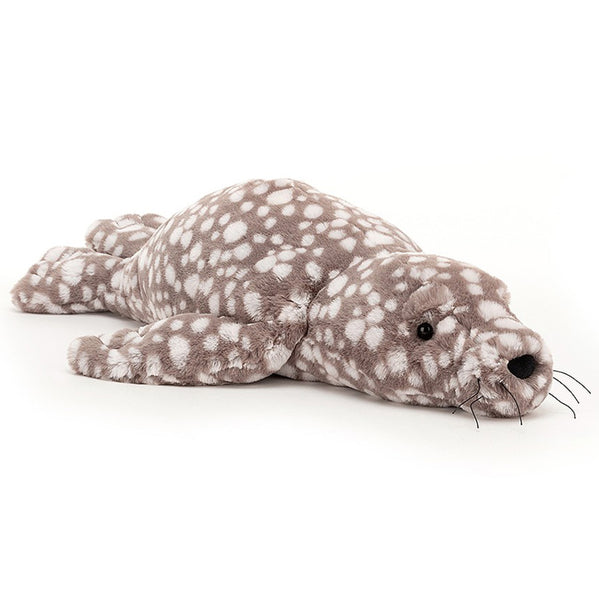 Jellycat Sea Creatures Stuffed Animals linus leopard seal brown white spots little