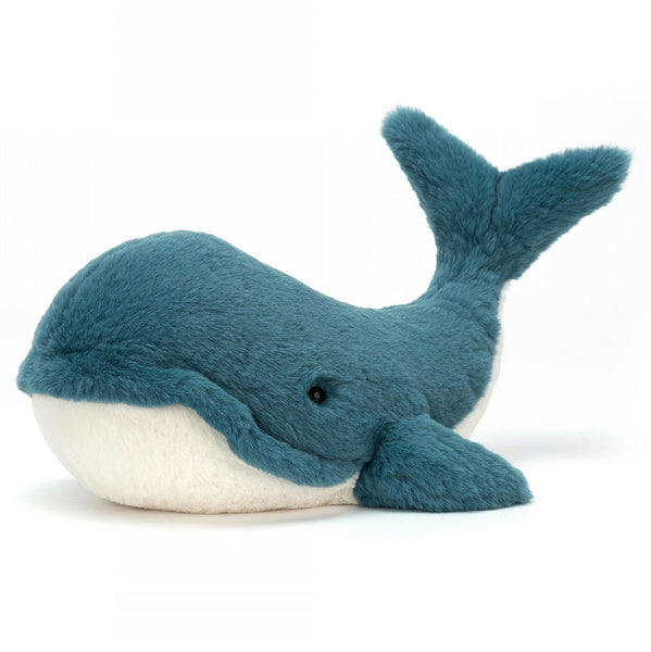 Jellycat Sea Creatures Stuffed Animals wally whale blue white