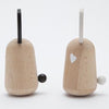 lifestyle_2, Kiko+ Usagi Bunny Chimes Japanese Minimalist Children's Wooden Toy black white