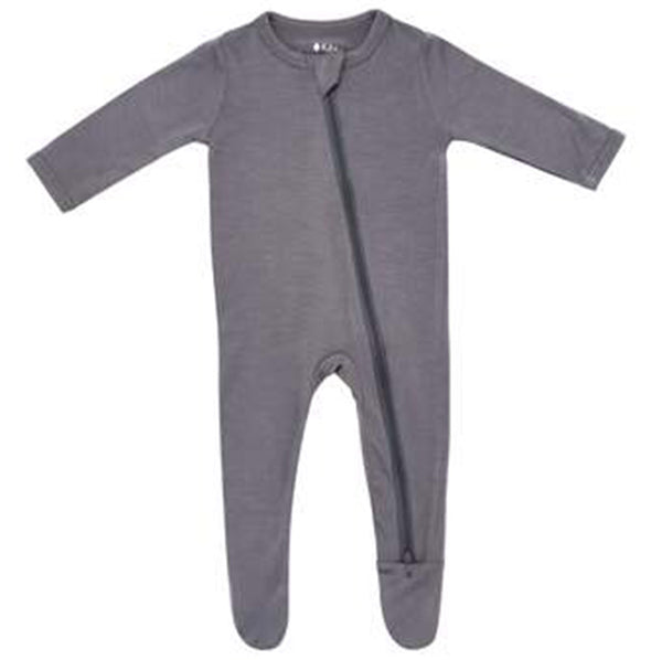 Kyte Baby Zipper Footie Infant Baby One-Piece Clothing Apparel charcoal dark grey