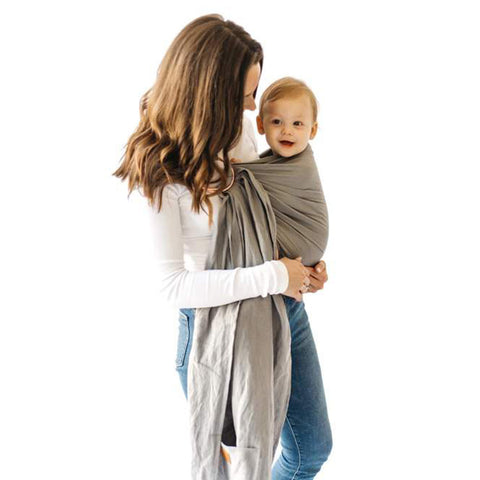 Kyte Baby Ring Sling Infant Baby Carrier Wrap birch grey