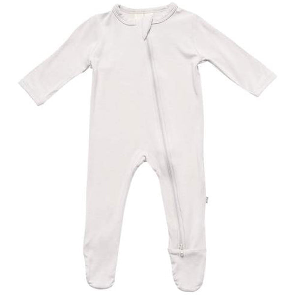 Kyte Baby Zipper Footie Infant Baby One-Piece Clothing Apparel oat beige