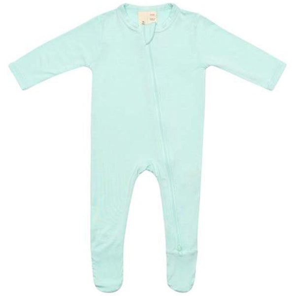 Kyte Baby Zipper Footie Infant Baby One-Piece Clothing Apparel seafoam blue green