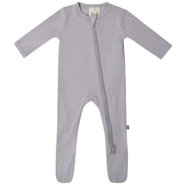 Kyte Baby Zipper Footie Infant Baby One-Piece Clothing Apparel storm grey
