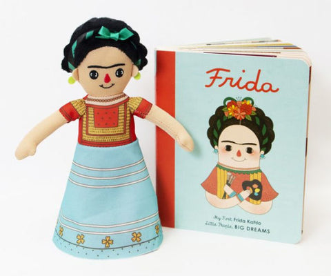 Little People, Big Dreams Book & Doll Set Children's Gifts frida kahlo