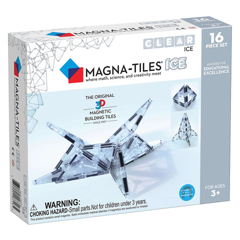 Valtech Magna-Tiles 16-Piece ICE 3D Magnetic Building Set