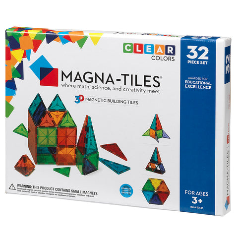 Valtech Magna-Tiles 32-Piece 3D Magnetic Building Set multicolored