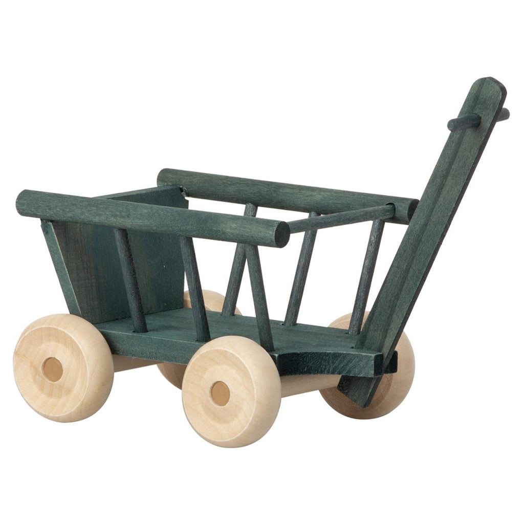 Maileg Petrol Micro Wagon Children's Pretend Play Doll Accessory Toy petrol dark green