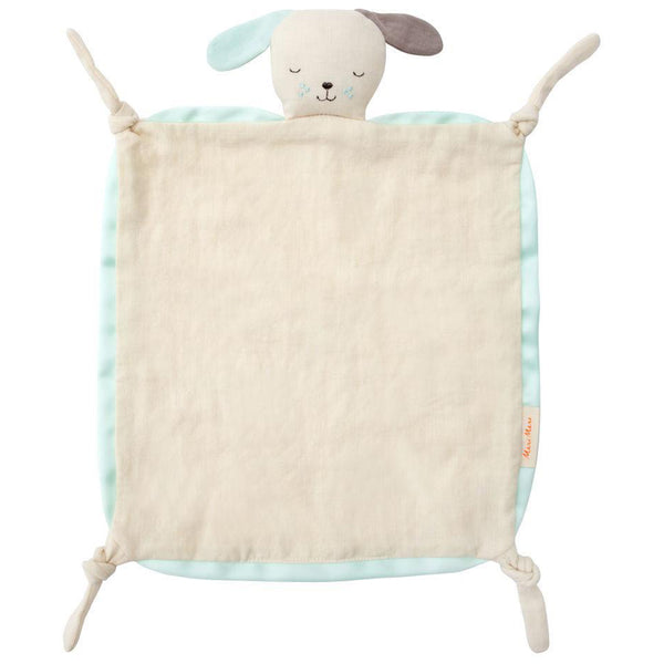 Meri Meri Natual Organic Cotton Muslin Baby Blanklette & Soother dog blue security