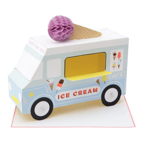 Meri Meri Birthday Greeting Card - Stand-Up Ice Cream Van