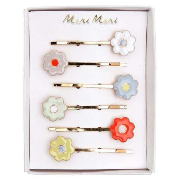 Meri Meri Children's Hair Slide Pin Accessory enamel daisies