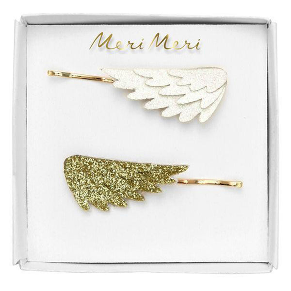 Meri Meri Children's Hair Slide Pin Accessory pegasus wings glitter