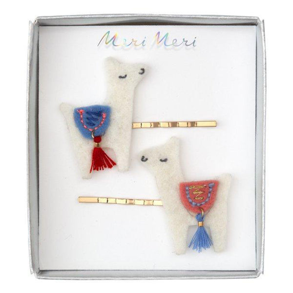 Meri Meri Children's Hair Slide Pin Accessory llamas
