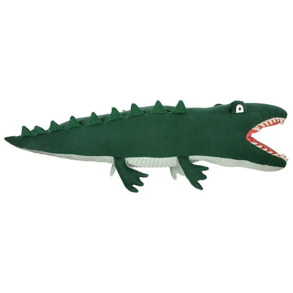 Meri Meri Organic Cotton Knitted & Stitched Children's Animal Toys jeremy the crocodile green bumpy large